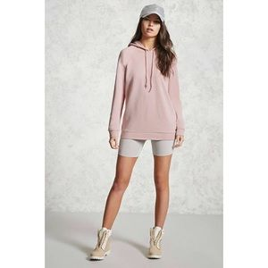 NWT Forever 21 French Terry Longline Hoodie Medium